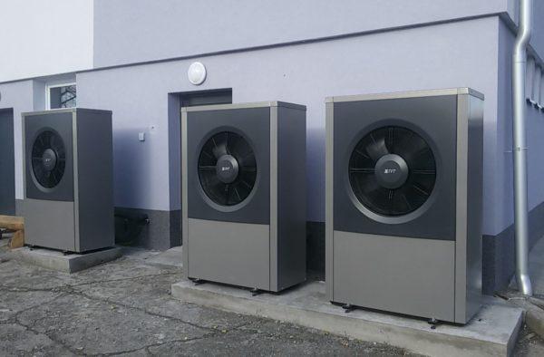 Dodávka a montáž tepelných čerpadel 3x IVT AIR X 17Kw
