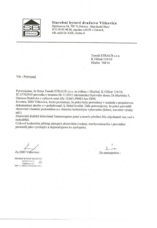 SBD Vítkovice BD Dr. Martínka 5 Ostrava