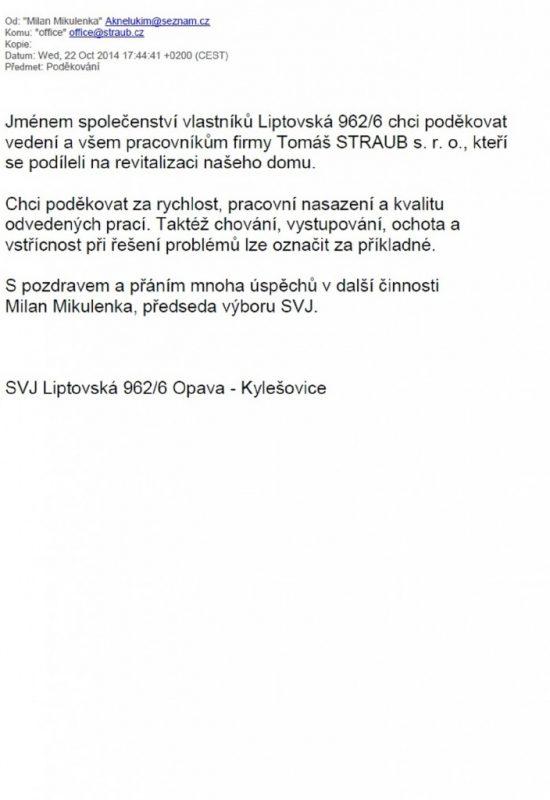 SVJ Liptovská 962/6 Opava – Kylešovice