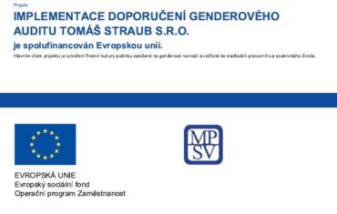 IMPLEMENTACE DOPORUČENÍ GENDEROVÉHO AUDITU CZ.03.1.51/0.0/0.0/17_130/0010199