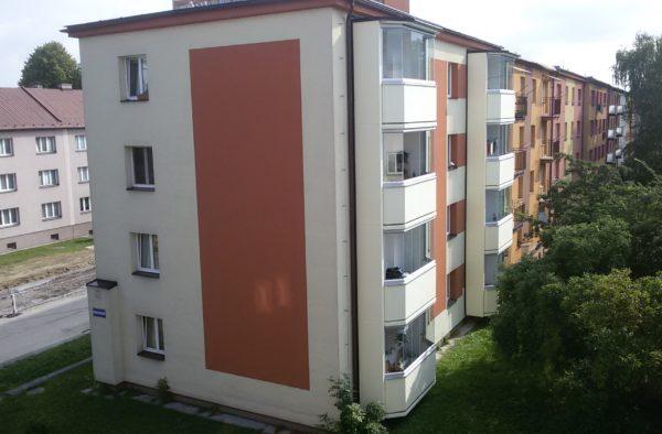Výstavba nových lodžií Provaznická 73 Ostrava