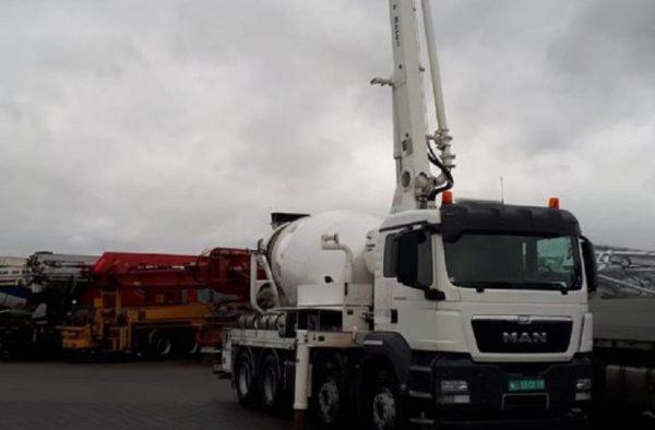 Domíchávač s pumpou na beton 24bm MAN TGS 35.440